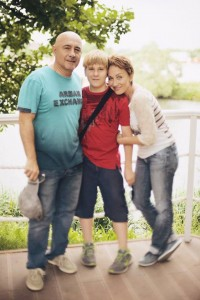 Семья Кругловых – Анна, Геннадий и Миша