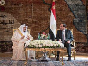 Король Саудовской Аравии Салман и президент Египта генерал Ас-Сиси