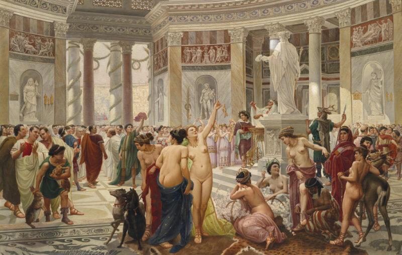 фото римских оргий