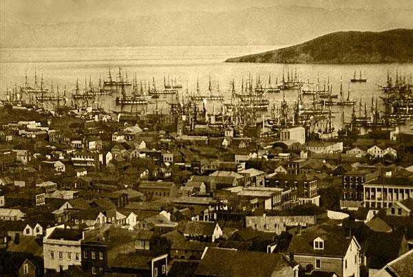 Сан-Франциско и гавань в 1851 году