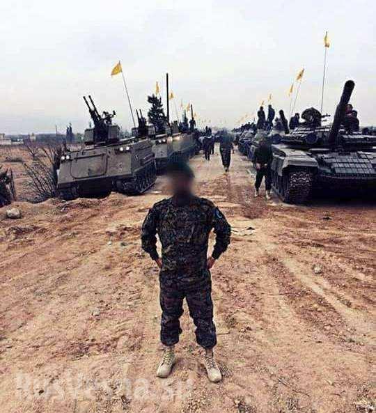 Колонна танкового полка «Хизбаллы»