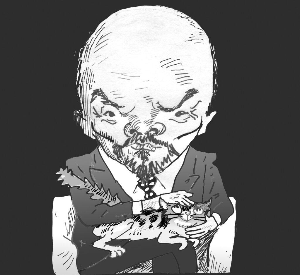 Владимир Ленин. Шарж Владимира Мочалова