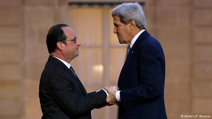 Джон Керри и Франсуа Олланд