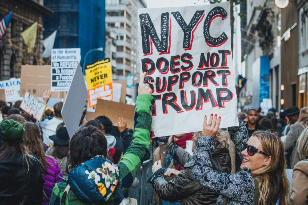 Противники Трампа в Нью-Йорке