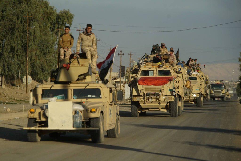 Иракские войска вступают в Мосул