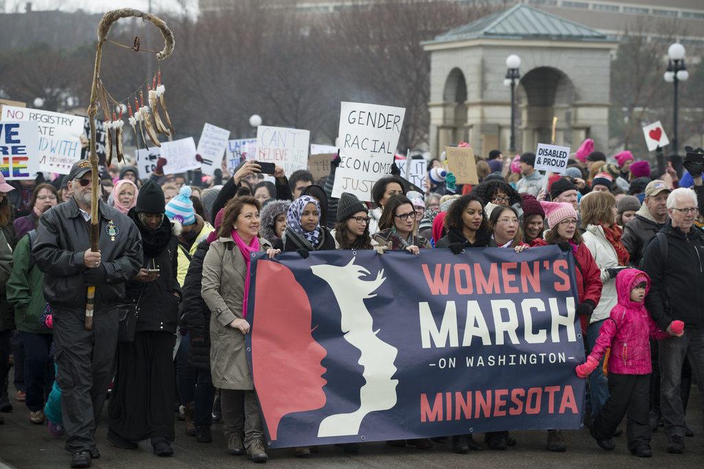 Марш женщин против Дональда Трампа
