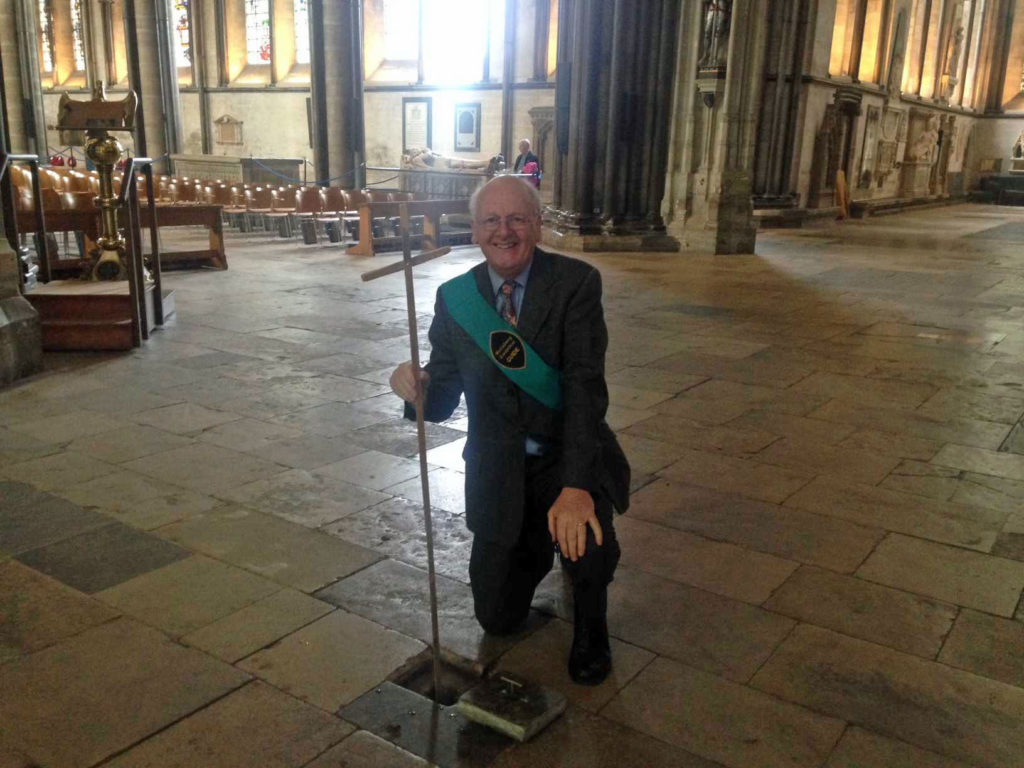 5. Measuring water under the floor of Salisbury Cathedral