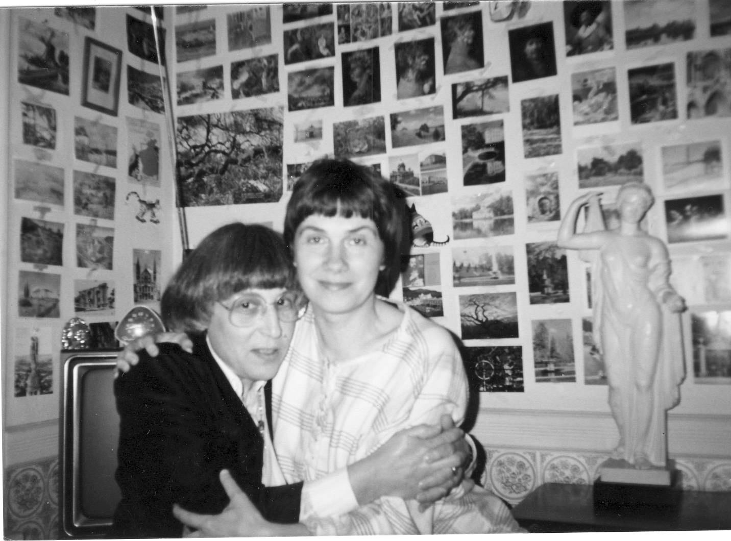 Юнна Мориц и Лена Клепикова у нас в Нью-Йорке. 1987 год. Фото Владимира Соловьева
