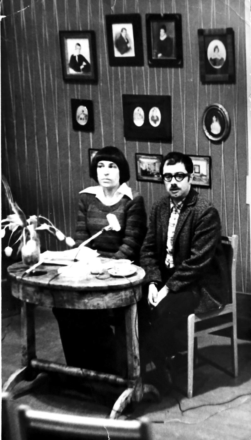 Владимир Соловьев ведет вечер Юнны Мориц в Литературном музее в Москве 20 февраля 1976 года. Архив Владимира Соловьева