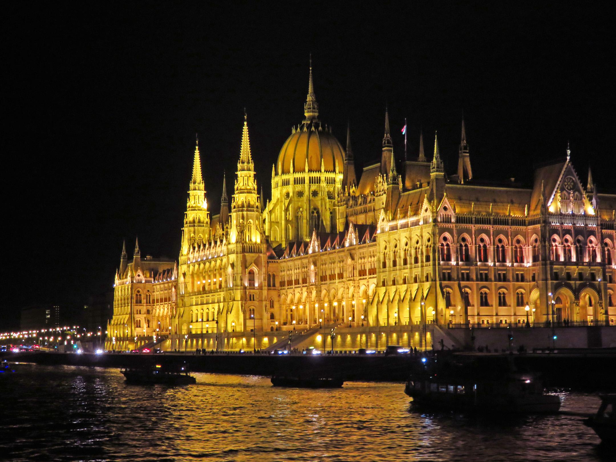 3. Budapest Parliament at night