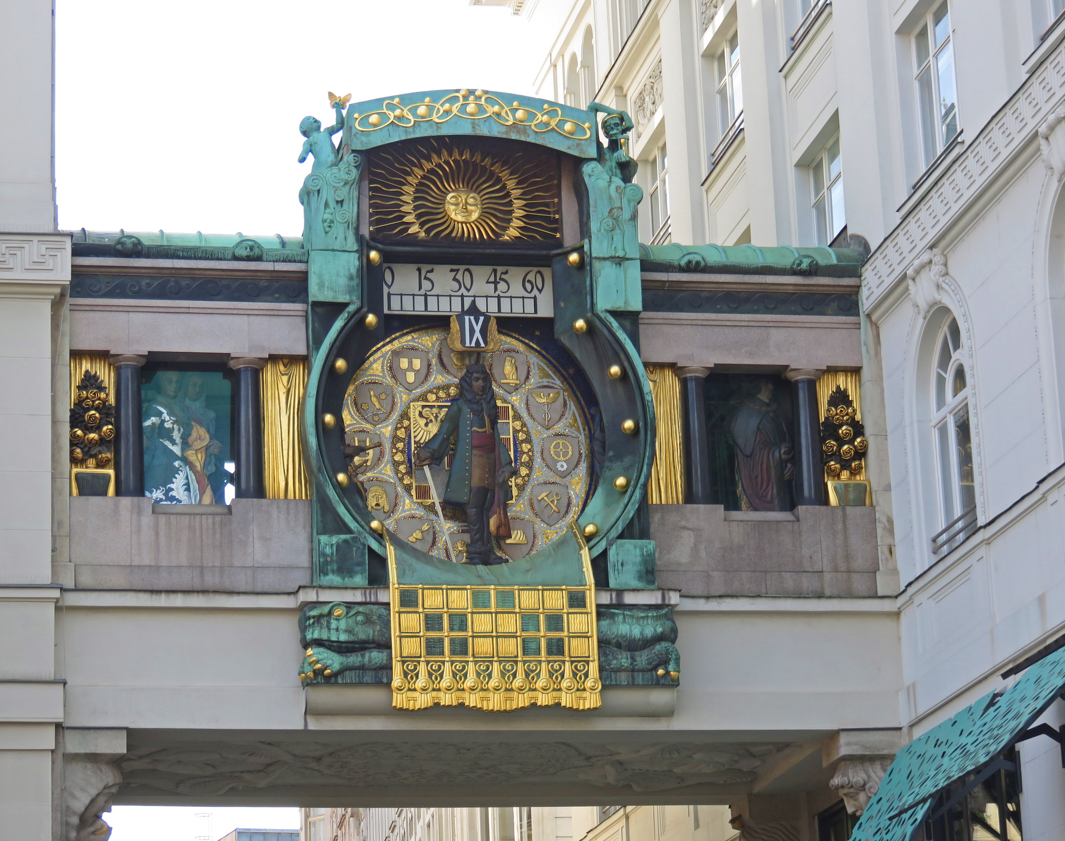 5. Ankeruhr clock in Vienna