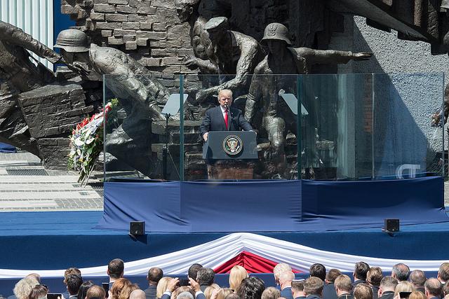 Выступление Дональда Трампа в Варшаве