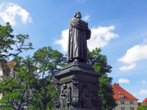 1. Luther monument in Eisenach