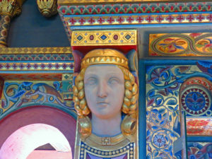 2. Wall decor in Wartburg Castle