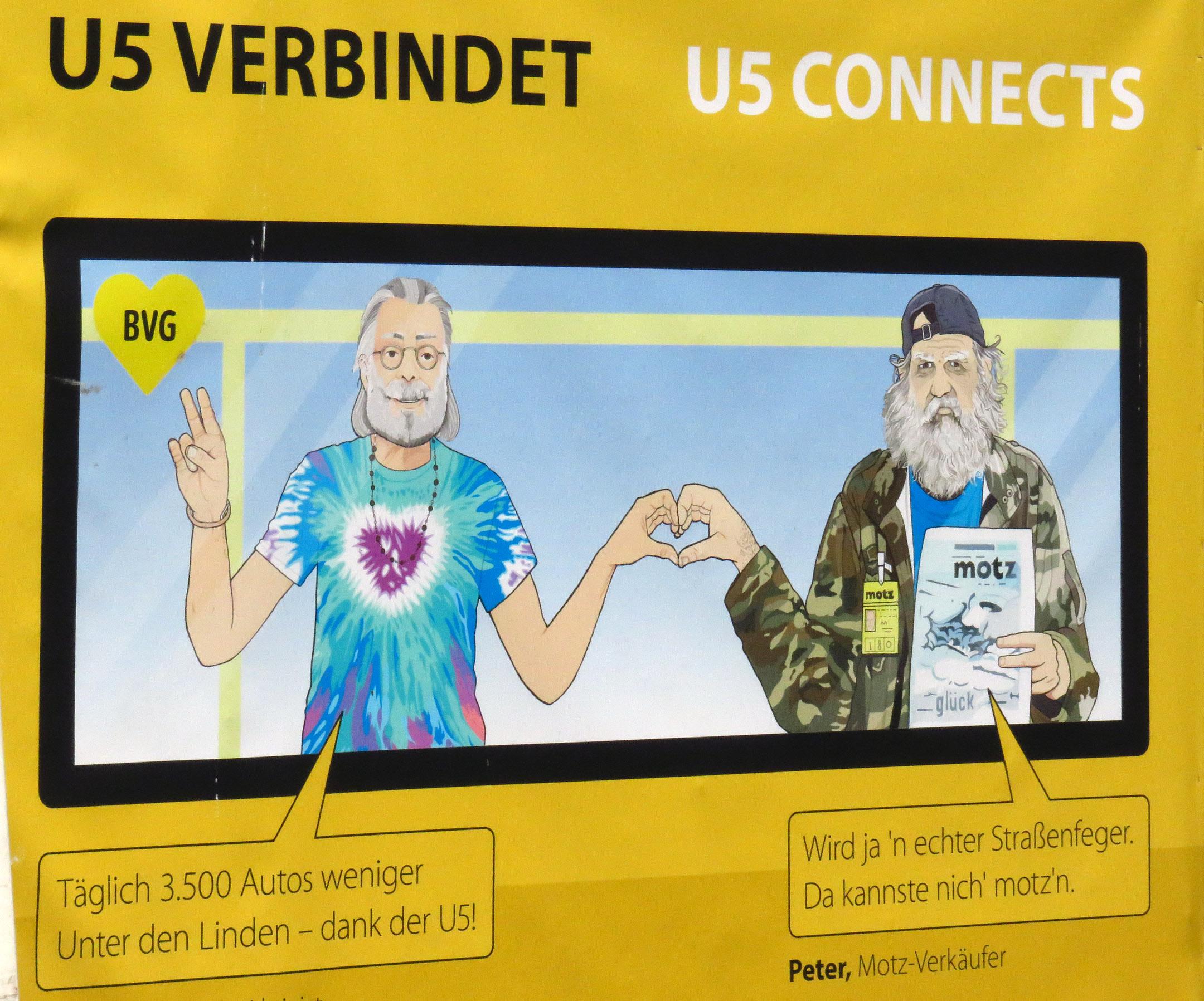 7. Ad on U-Bahn 5