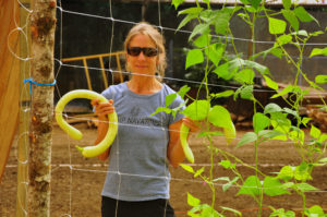 6. Anne-Marie with greenhouse squash