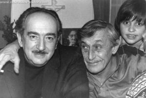 Александр Галич, Виктор Некрасов, Вадик Кондырев, Париж, 1976.