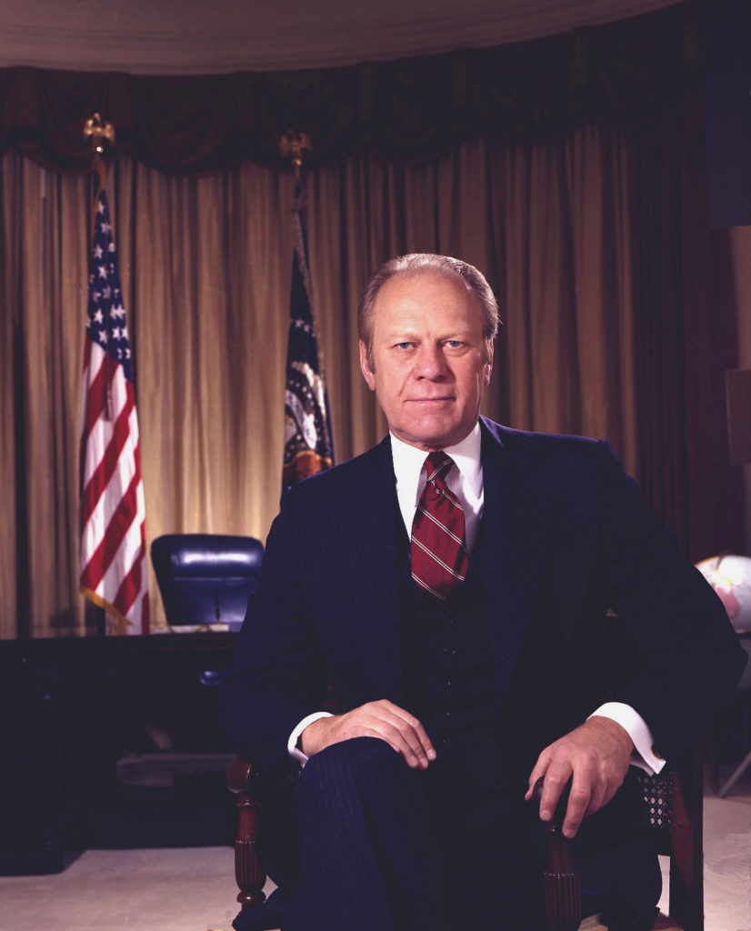 president gerald ford In honor of veterans day, today's post comes to you from sanjana barr of the national archives history office on september 20, 1975, president gerald r ford signed legislation returning the official date for.