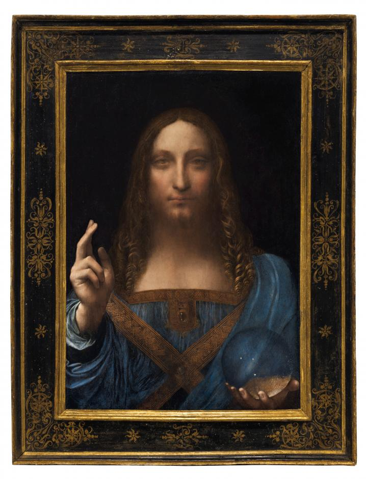 Christie's New York image of Leonardo da Vinci painting Salvator Mundi