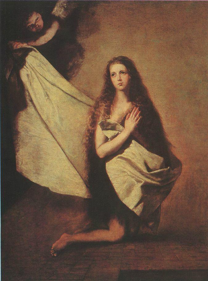 «Святая Инесса и ангел, укрывающий ее покрывалом»,  Хосе Рибера, 1641