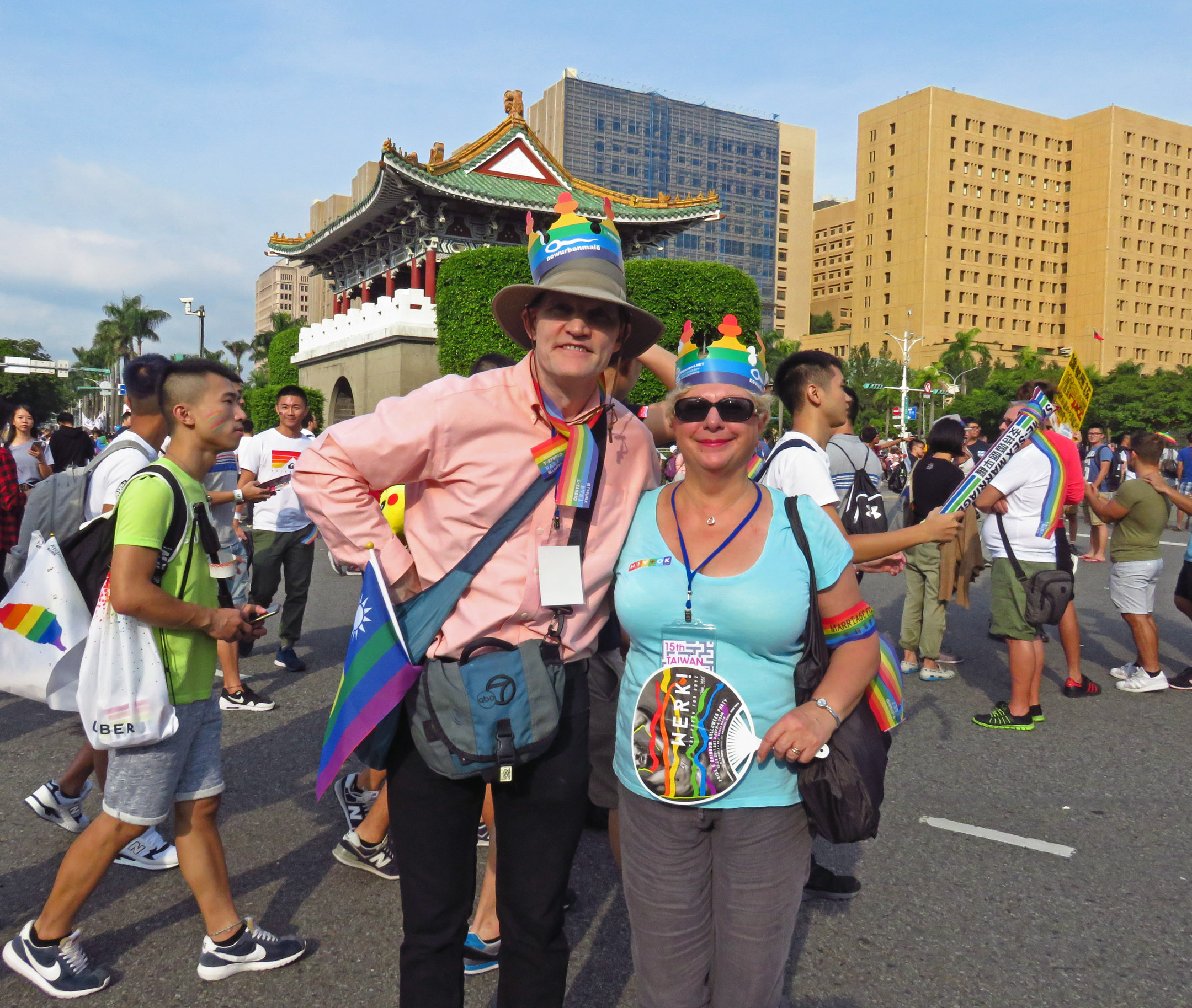 2. Ed and Emma at the Pride Parade in Taipei