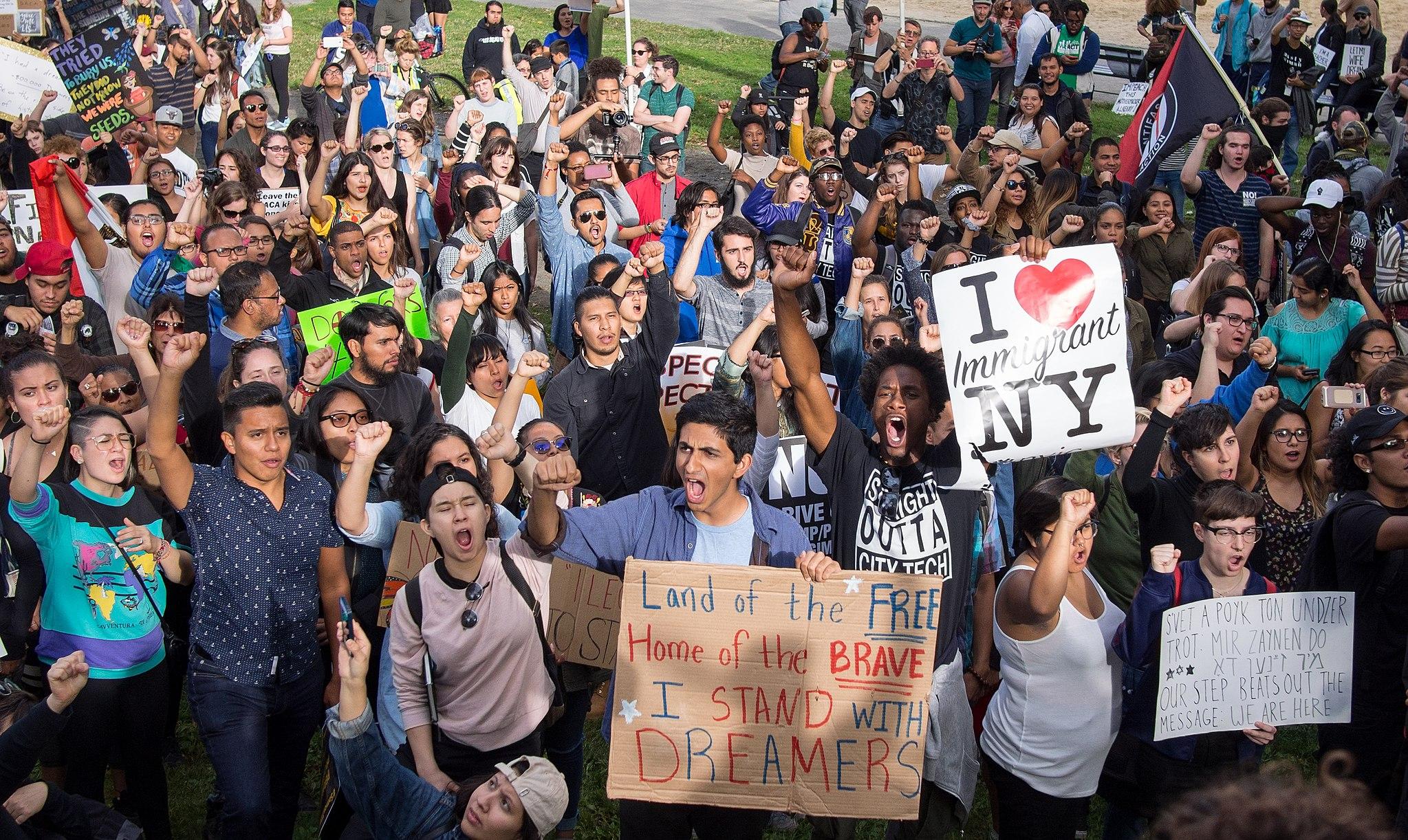 Сторонники DACA в Нью-Йорке. Photo: Rhododendrites
