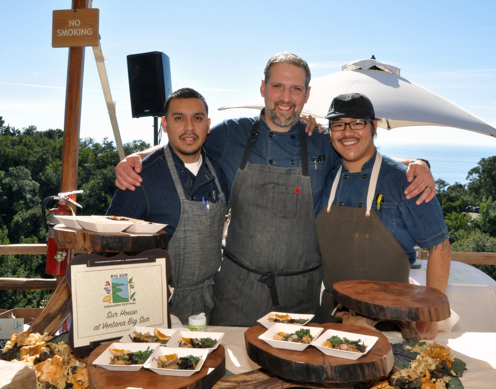 6. Chef and cooks of Sur House at Ventana Big Sur